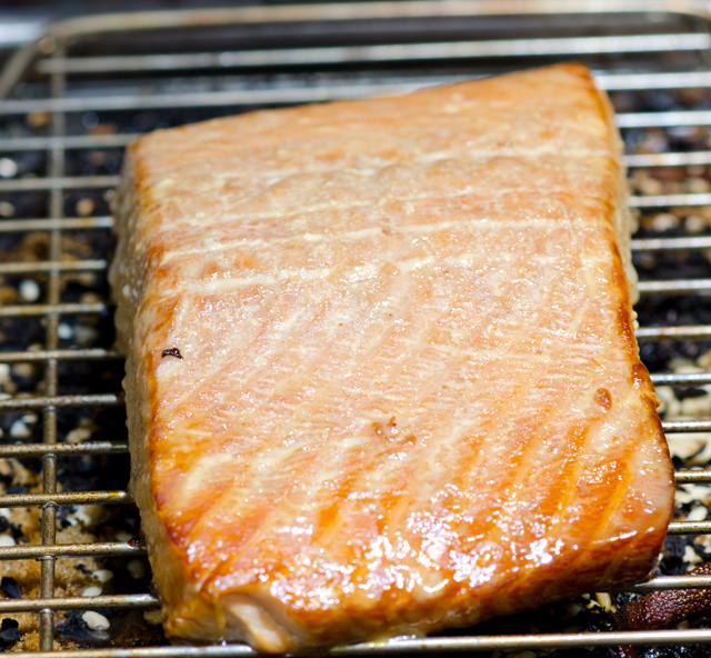 One pound of salmon will takes less than a half hour.