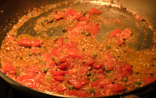 Sauce ingredients come together quickly