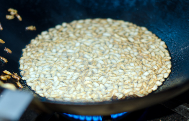 I loved making puffed rice!